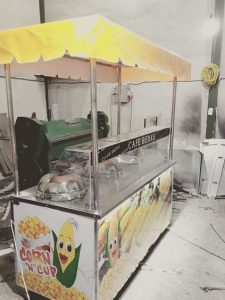 چرخ بخار پز دستگاه ذرت مکزیکی